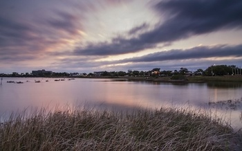 Pensacola's Project Greenshores at sunset. (Photo: © Erika Nortemann/The Nature Conservancy)