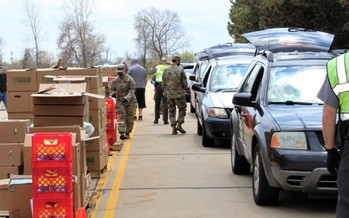 Ohio National Guard members literally are doing a lot of heavy lifting this season, helping distribute more than 33 million pounds of food to families in need. (Second Harvest Foodbank of North Central Ohio)