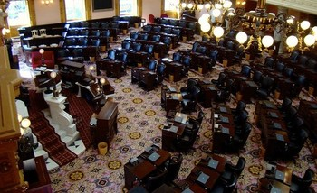 The Ohio House of Representatives is currently made up of 21 Republicans and 12 Democrats. <br />(Dr. Bob Hall/Flickr)