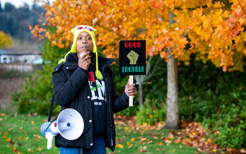Demetria Hester was assaulted by self-described neo-Nazi Jeremy Christian in 2017. She now organizes Moms United For Black Lives in Portland. (Paul Dunn/YES! Magazine)
