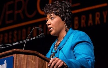 The daughter of Dr. Martin Luther King Jr., Dr. Bernice King, will speak to Michiganders during a virtual event. (LBJ Library/WikiMedia Commons)