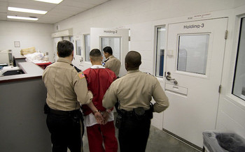 About four in five people in U.S. Immigration and Customs Enforcement custody were in privately run facilities as of January 2020. (Common Language Project/Flickr)