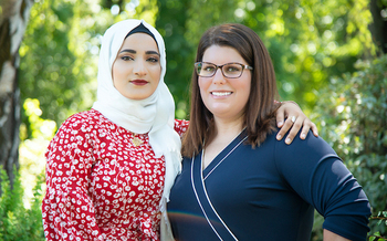 Maryam Nasar, alongside her mentor above, was born in Iraq and arrived in Idaho as a refugee in 2010. (Madeline Rose Scott)