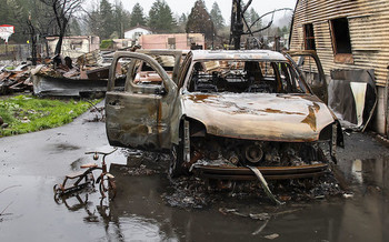 Labor Day fires in Oregon displaced thousands of people across the state. (Oregon Dept. of Transportation/Flickr)