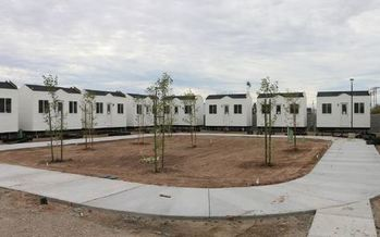 Imperial Valley College is about to open 26 tiny homes to students experiencing homelessness. (Imperial Valley College)