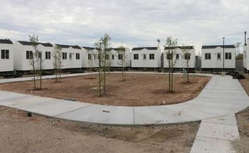 Imperial Valley College está a punto de abrir 26 casas pequeñas para estudiantes sin hogar. (Colegio del Valle Imperial)