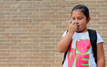 An estimated 8% of Texas children, or about 541,000, suffer from asthma, according to the Texas Department of Health Services. (vitalrecordtamhsc.edu)