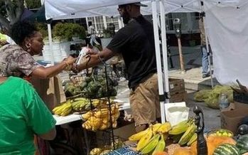 Organizers of the African Marketplace and Drum Circle Farmers Market in South Los Angeles say they're struggling to get an annual permit. (Writtenvision)