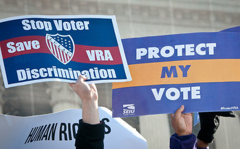 Voting-rights advocates say the John Lewis Voting Rights Advancement Act would help prevent restrictive voting laws from being passed in Missouri. (SEIU/Flickr)