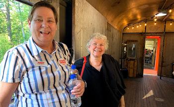 Julie Manuel, left, was the winner of the 2020 Andrus Award in Oregon. (Joyce DeMonnin/AARP Oregon)