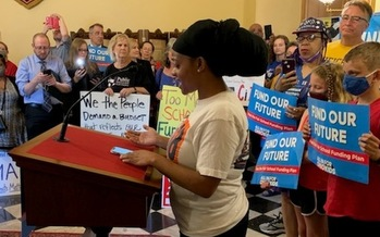 Cleveland teacher Shauntina Thornton says all Ohio students deserve a world-class public education. (All in for Ohio Kids)
