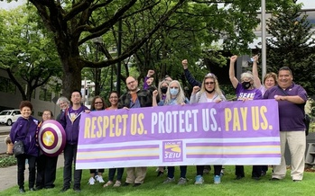 About 2,000 Portland-area janitors from SEIU Local 49 are emphasizing their work during the pandemic as contract negotiations kick off. (SEIU Local 49)
