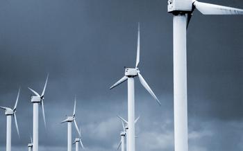 PHOTO: Wind turbines.