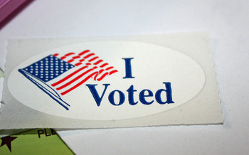 PHOTO: 'I Voted' sticker