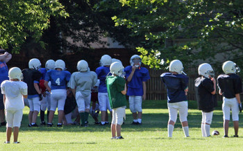 PHOTO: Youth football practice. Photo credit: Deborah Smith