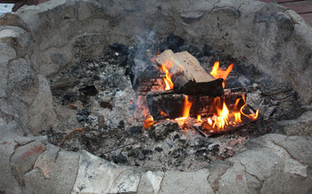 PHOTO: camp fire. Credit: Deborah Smith