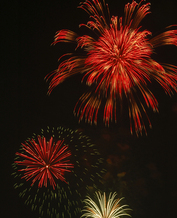 PHOTO: When things are extra dry extreme caution must be used around fireworks.