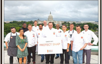 PHOTO: Chefs encouraging protection of the Supplemental Nutrition Assistance Program (SNAP).