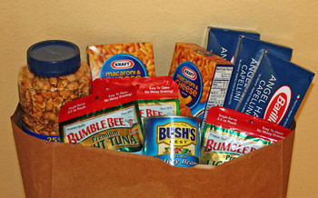 PHOTO: Food donations.