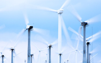 PHOTO: Wind turbines.