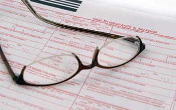 PHOTO: Health insurance paperwork