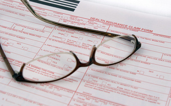 PHOTO: Health insurance documents.