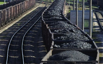 PHOTO: Rail cars loaded with coal.