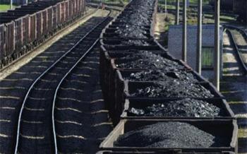 PHOTO: Loaded coal train cars.