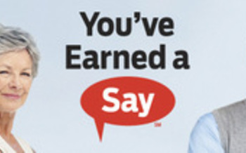 Graphic: Earned a Say logo