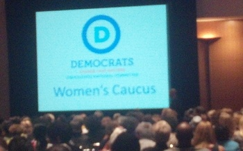 PHOTO: DNC Women's Caucus. Photo by Stephanie Carroll Carson.