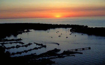 PHOTO: Sunset over Lake Erie at Put-in-Bay. Courtesy EPA.