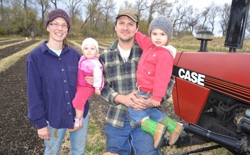 PHOTO: Kristianna Gehant and family. Photo credit: Land Stewardship Project.