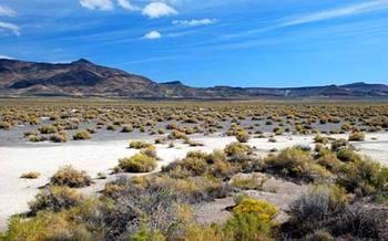 PHOTO: Desert scene near Valley Falls in Lake County, Oregon. Photo credit: Gary Halvorson, Oregon State Archives.