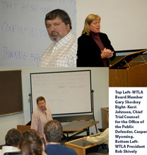 PHOTO: Collage of voir dire workshop instructors. Photo credit: Wyoming Trial Lawyers Association.