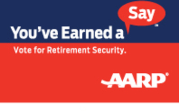 IMAGE: You've Earned a Say Vote Logo. Courtesy of AARP Ohio.