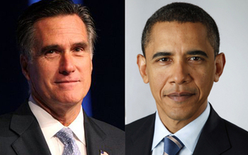PHOTO: The University of Denver is host to the first Presidential debate of the 2012 election season, between President Barack Obama and Republican challenger Mitt Romney,
