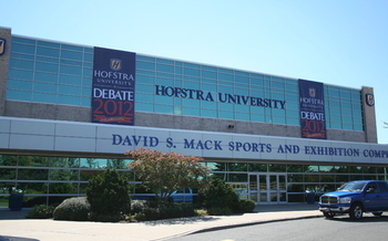 The David S. Mack Sports and Exhibition Complex at Hofstra University, site of the second presidential debate. Courtesy Hofstra University