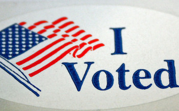 PHOTO: 'I Voted' sticker. Photo credit: Deborah C. Smith