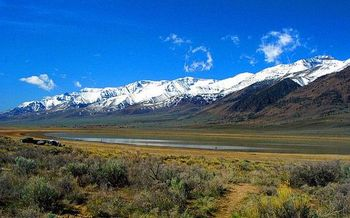 PHOTO: East slope of Steens Mountains, near Mann Lake. Courtesy of National Scenic Byways Program.