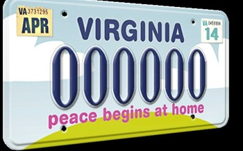 According to the CDC, about 24 people per minute are victims of some form of intimate partner violence � and one group in Virginia is working to reduce that number with a license plate campaign to raise awareness, and funds, for programs that educate young people.