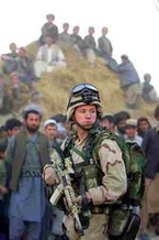 PHOTO: U.S. soldier in Afghanistan. Courtesy of Coalition for Peace Action.