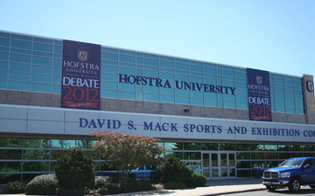 PHOTO: The David S. Mack Sports and Exhibition Complex at Hofstra University, site of the second 2012 presidential debate. Courtesy Hofstra University