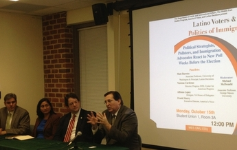 Latino Voter Poll Discussion at George Mason University.