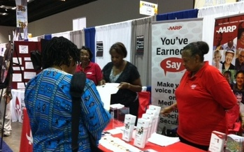 Photo: woman answers questionnaire.  Photo credit: AARP Indiana