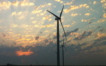 Photo: Indiana wind farm   Photo credit: Leigh DeNoon