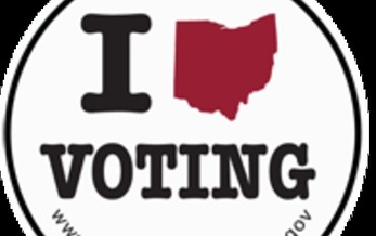 IMAGE: Ohio voting sticker. Courtesy Secretary of State's office.