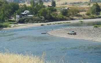 PHOTO: Suction dredge mining. Photo courtesy of Idaho Conservation League.