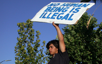 PHOTO: California DREAMer protest, 2010.