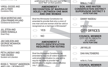 PHOTO: Minnesotans will vote on two amendments to the state constitution next week.