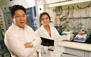 PHOTO: Nikko and Jaqueline Ronquillo met, married and created their new company at the University of Utah. They say they're ready for the Cleantech Open finals. Courtesy of Navillum Nanotechnologies.